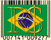 Brazil currency flag barcode — Stock Photo
