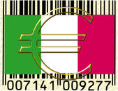 Italy currency flag barcode — Stock Photo