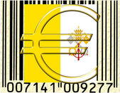Vatican City currency and flag — Stock Photo