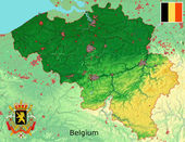 Belgium map flag coat — Stock Photo