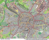 Aachen Germany aerial view — Stock Photo