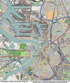 Vue aérienne d'Anvers Belgique — Photo