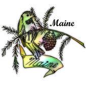 Maine State bird — ストック写真