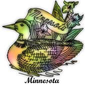 Minnesota State bird — Stock Photo