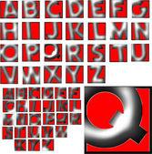 Diseño abc alfabeto letras — Foto de Stock