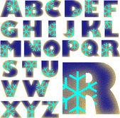 ABC Alphabet lettering design — Stock Photo