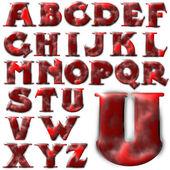 Conception de lettrage alphabet abc — Photo