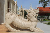 The statue of singha in Thailand — Stock Photo