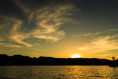 Sunset at LuGu Lake — Foto de Stock