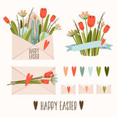 Set of Easter decor — Stock Vector