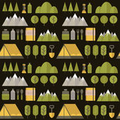 Seamless pattern hike. — Stockvektor
