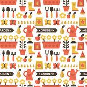 Seamless pattern gardening — Stok Vektör
