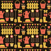 Seamless pattern gardening — Stock Vector