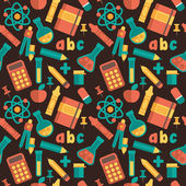 Seamless pattern on a school theme. Flat design, vector. — Stock Vector