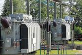 Transformator, Hochspannungsanlage — Stock Photo