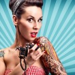 Pin-Up girl with tattoos — Stock Photo #42297157