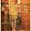 Vintage photo of a housewife — Stock Photo #42698677