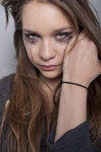 Young woman crying — Stock Photo