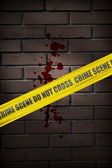 Crime scene cordon tape — Stock Photo