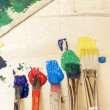 Paint and Paintbrushes — Stock Photo #42700785