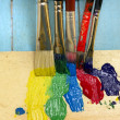 Paint and paintbrushes — Stock Photo #42704925