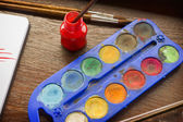 Art of Painting - Watercolors — Stock Photo