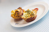 Paleo Breakfast - Bacon and Eggs Muffins — Stock fotografie
