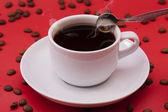 白咖啡杯子 — 图库照片