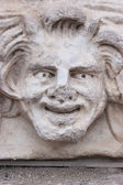 Happy face sculpture — Stock Photo