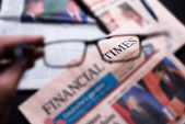 Financial times newspaper — Foto Stock