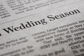 Wedding season — Stock Photo