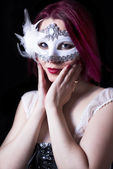 Girl with the mask — Stock Photo