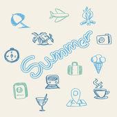 Fundo de doodle de verão — Vetorial Stock