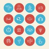 Iconos de doodle verano — Vector de stock
