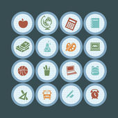Back to school - icon set — Stock Vector