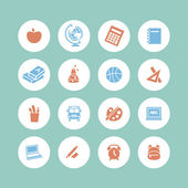 Back to school - icon set — 图库矢量图片