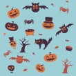 Seamless halloween background — Stock Vector #42462541