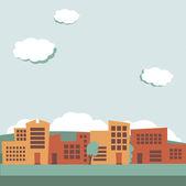 Urban background, retro colored — Stock Vector