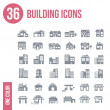 36 building icons set - — Stock Vector #42583067