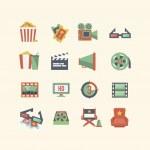 Movie icon set — Stock Vector #42583173