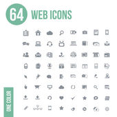 64 web icons set — Stock Vector