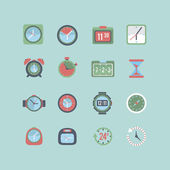 Clock and time icon set — Stock Vector