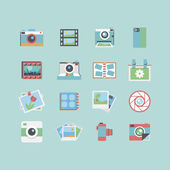 Photography icons — Stock vektor