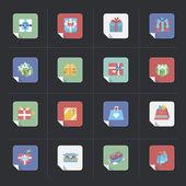 Git box icon set — Stock Vector