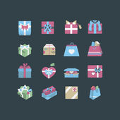 Git box icon set — Stock Vector