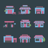 Buildings icon set — Stock vektor