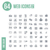 64 web icons — Stock Vector
