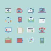 Media icon set — Stock Vector