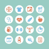 Fitness & Health Icons — Stock Vector