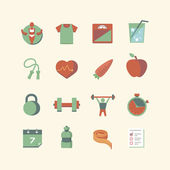 Health & Fitness Icons — Stock Vector